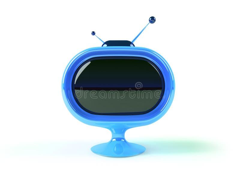TV futurista retra stock de ilustración