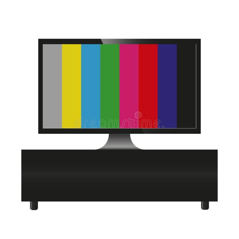 TV geen vectorillustratie gebroken TV van het signaalontwerp royalty-vrije illustratie
