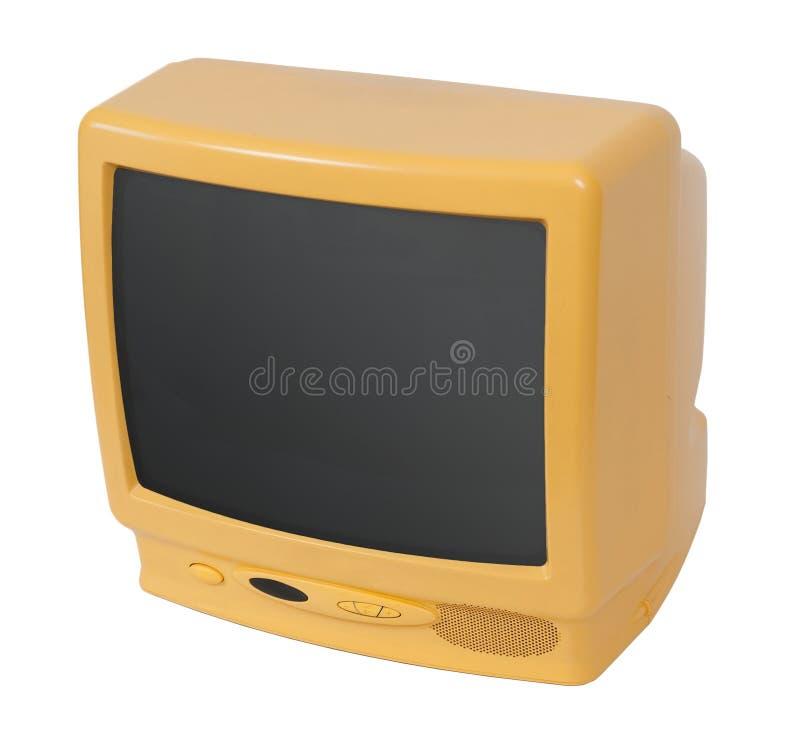 TV gialla fotografia stock libera da diritti