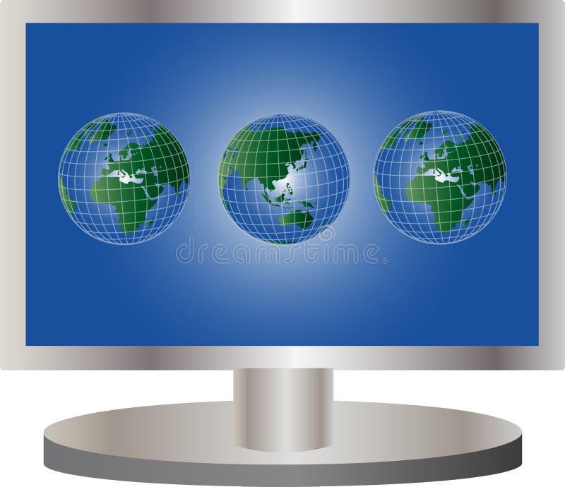 TV globale illustration libre de droits