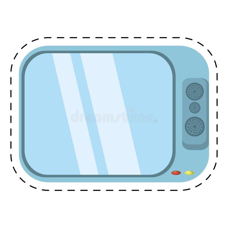 TV-het geluid van de kanaalfilm sneed lijn royalty-vrije illustratie