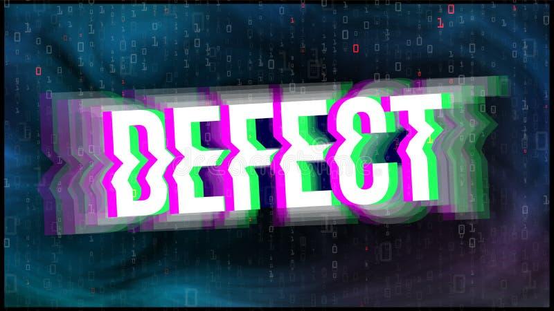 TV-het Schermtekort, Glitch Art Vector Banner stock illustratie