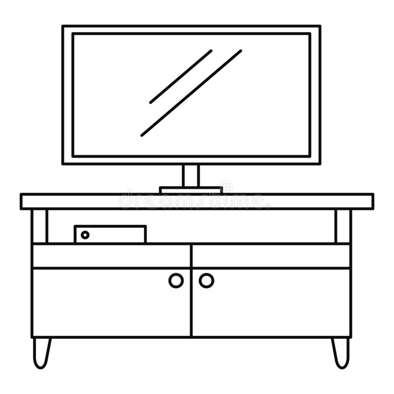 Tv home cinema icon, outline style stock illustration