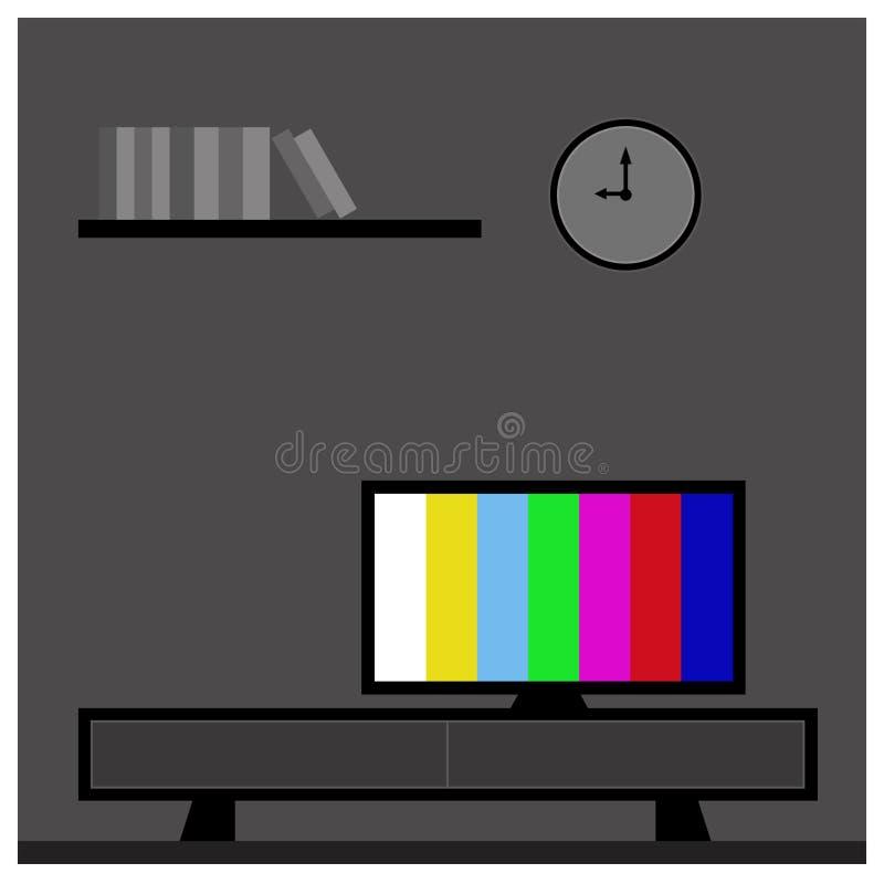 TV i vardagsrumet vektor illustrationer