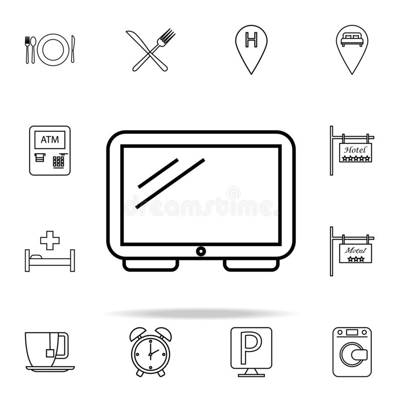 TV icon. hotel icons universal set for web and mobile. On white background stock illustration