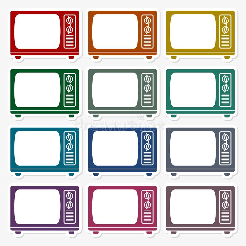 TV Icon, Old tv icon set. Vector icon vector illustration