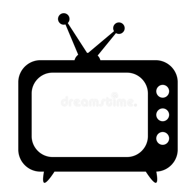 TV icon, retro TV stock illustration