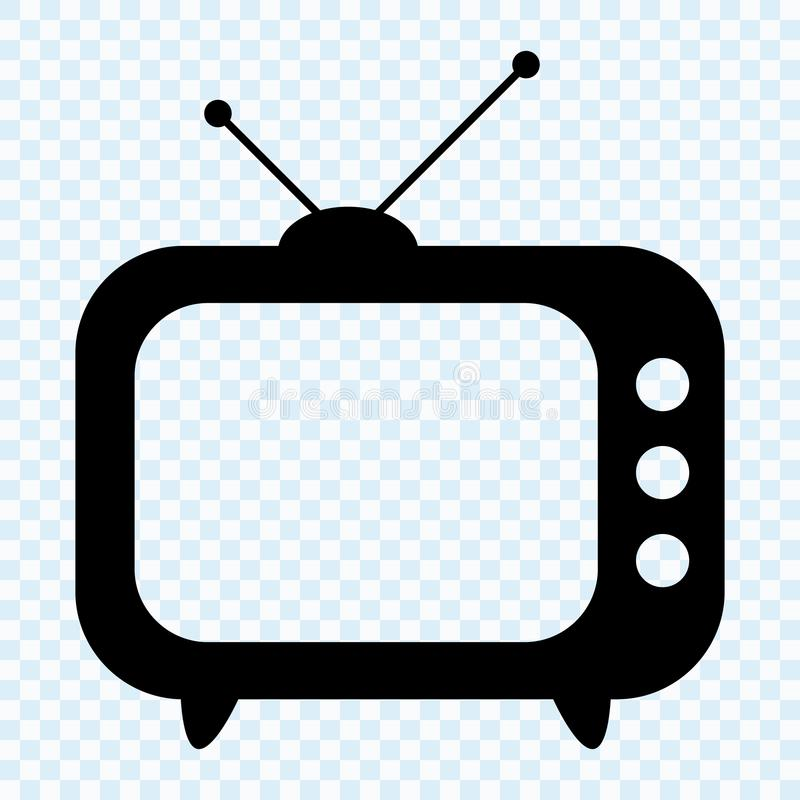 TV icon, retro TV. Vector illustration royalty free illustration