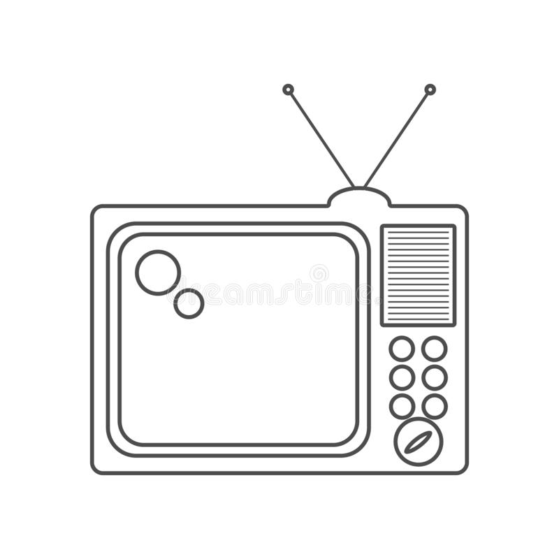 TV icon. Set of cinema  element icons. Premium quality graphic design. Signs and symbols collection icon for websites, web design. Mobile app on white royalty free illustration