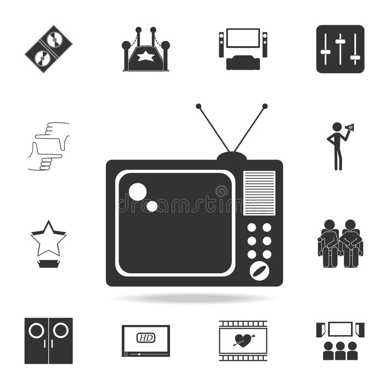 TV icon. Set of cinema element icons. Premium quality graphic design. Signs and symbols collection icon for websites, web design,. Mobile app on white stock illustration
