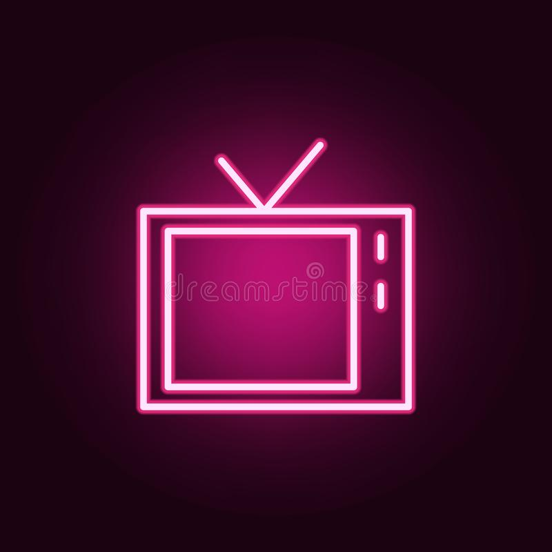 TV icon. web icons universal set for web and mobile. On dark gradient background vector illustration