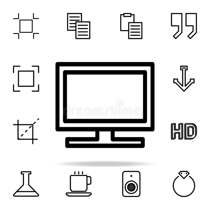 TV icon. web icons universal set for web and mobile. On white background vector illustration