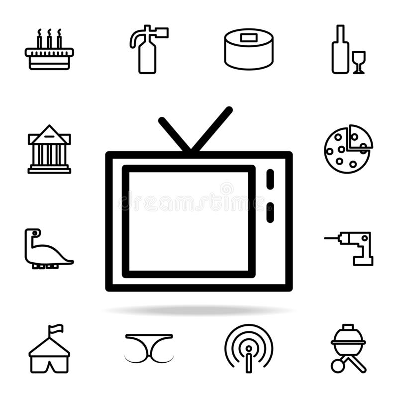 TV icon. web icons universal set for web and mobile. On white background royalty free illustration