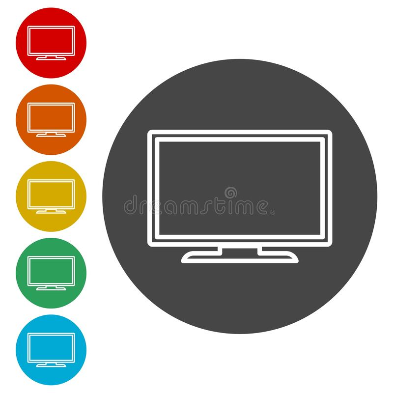 Tv Icons set. Vector icon vector illustration