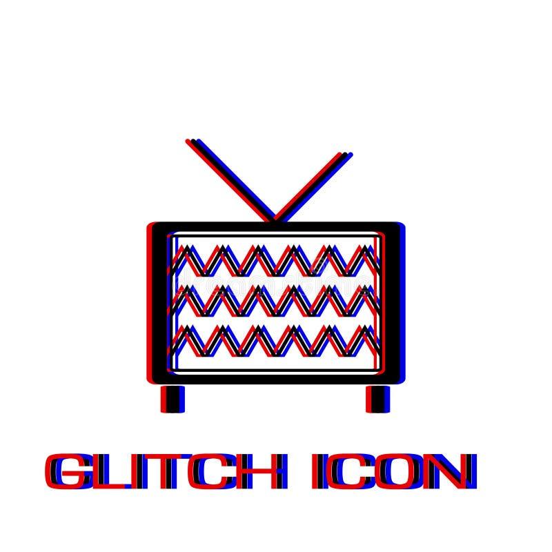 TV ikony mieszkanie ilustracji