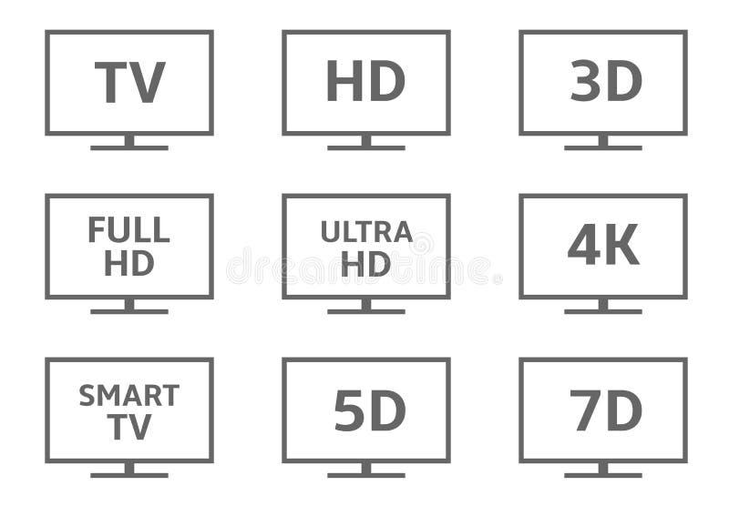 TV ikony set ilustracja wektor