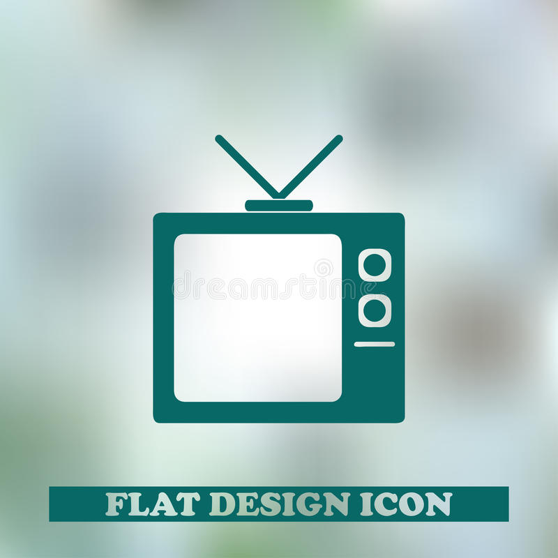 TV ikony wektoru ilustracja obrazy stock