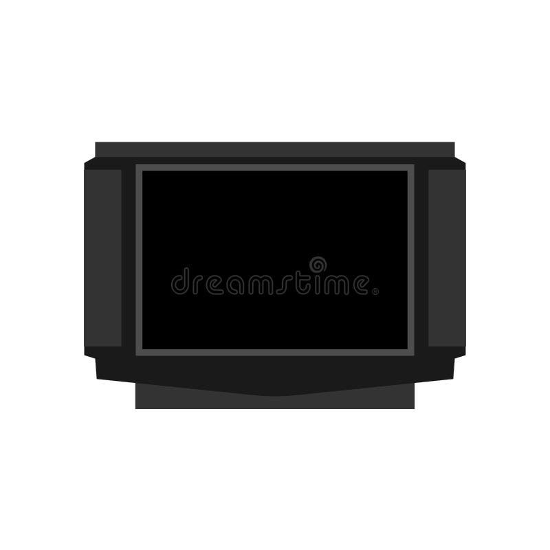 TV jednostki sprzętu łącznościowy ekranu wektor Wewnętrzna multimedialna elektroniczna ikony telewizja ilustracja wektor