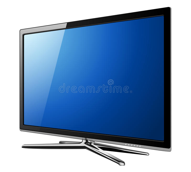 Download Tv lcd stock vector. Image of symbol, television, screen - 18287133