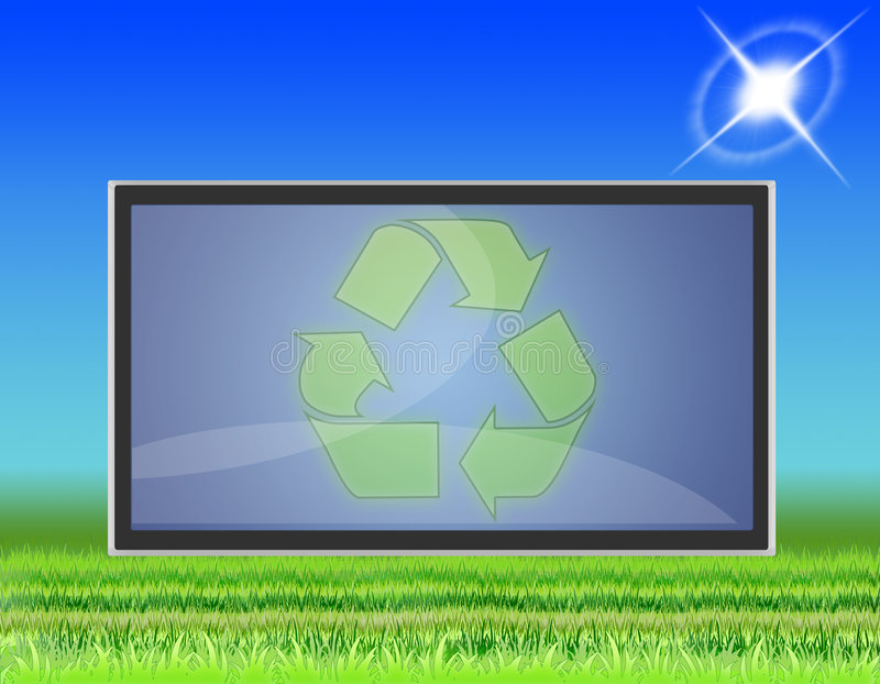 TV LCD flat screen (05) royalty free illustration