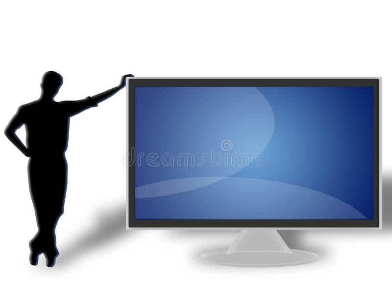 TV LCD flat screen (08) stock photos