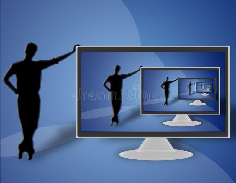 TV LCD flat screen (09) royalty free stock image
