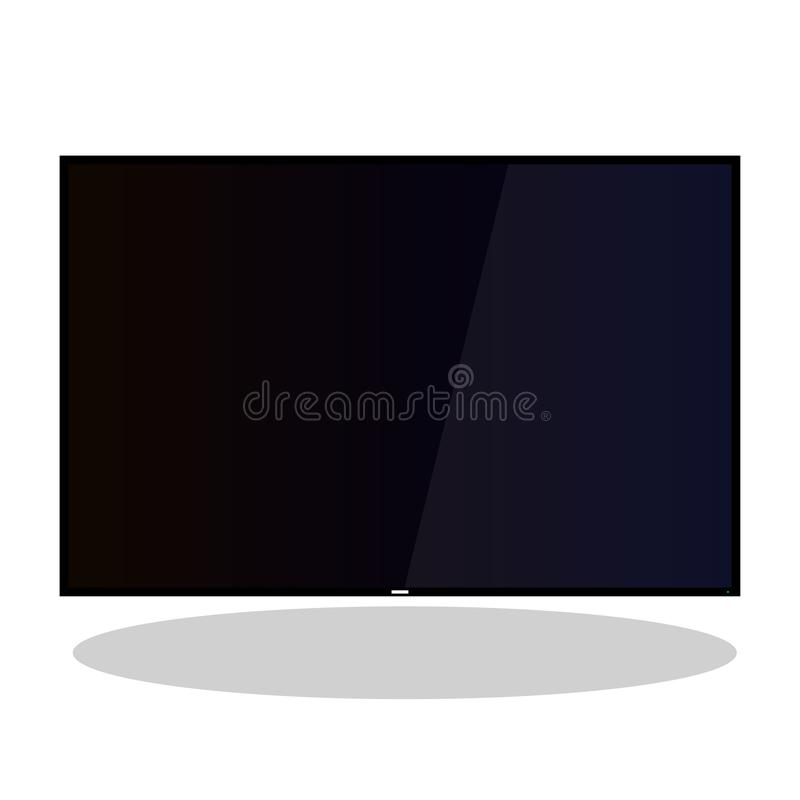 tv lcd wide plasma 4k vector flat stock illustration