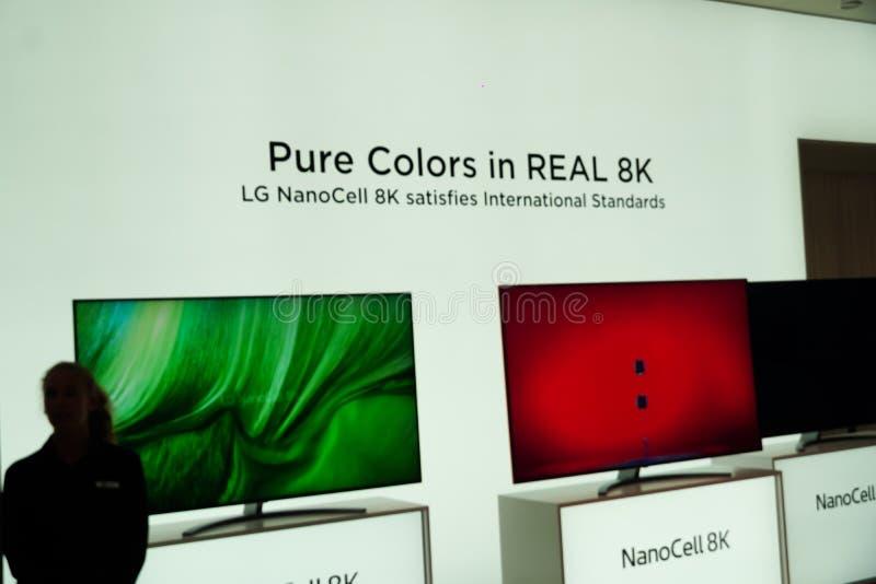 TV LG NanoCell 8K fotografia stock libera da diritti