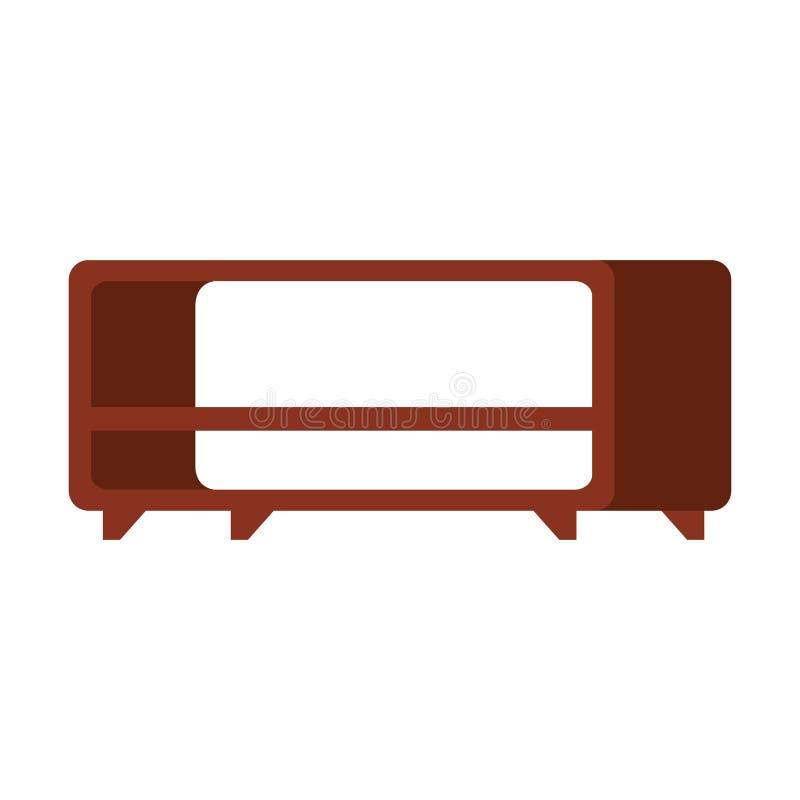 TV-lijst houten pictogram royalty-vrije illustratie