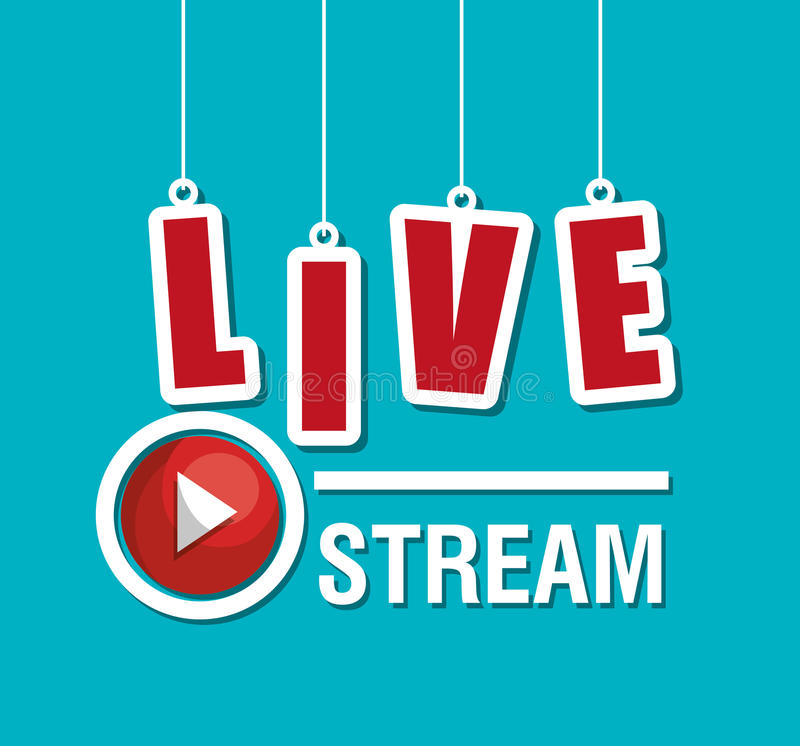 TV live stream. Graphic design, illustration eps10 royalty free illustration