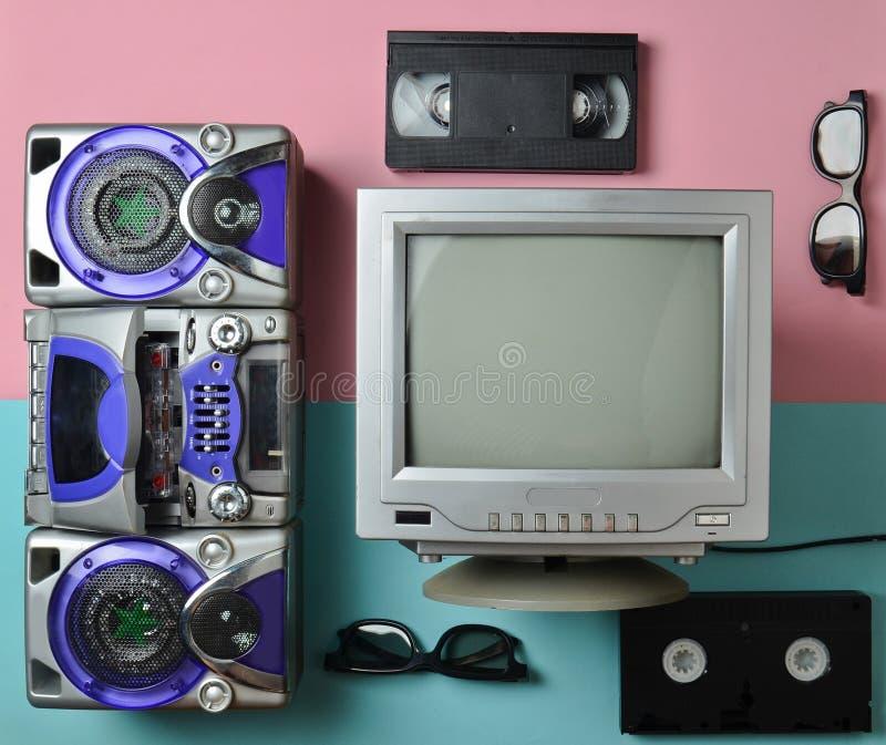 Tv ljudsignal registreringsapparat fotografering för bildbyråer