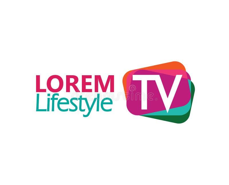 TV Logo Design Concept stock illustration