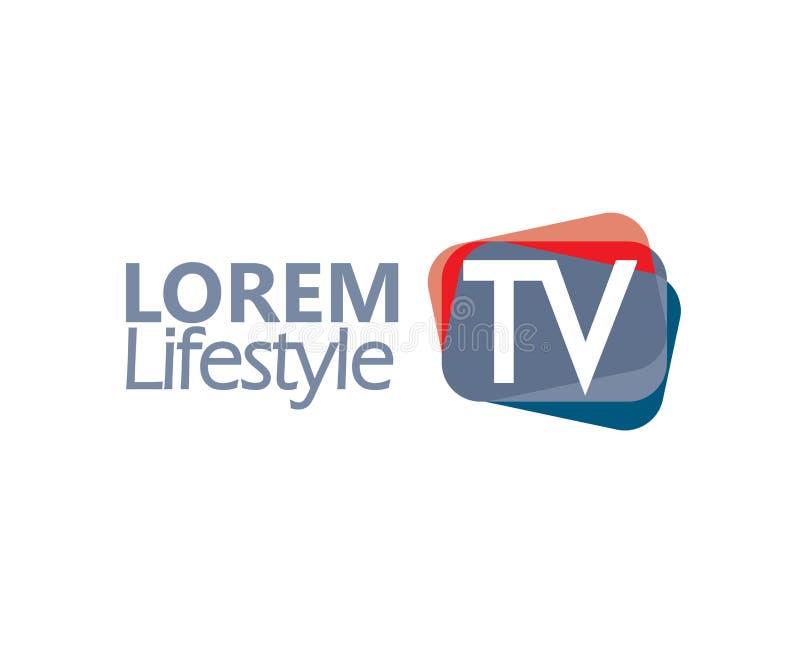 TV Logo Design Concept royalty free illustration