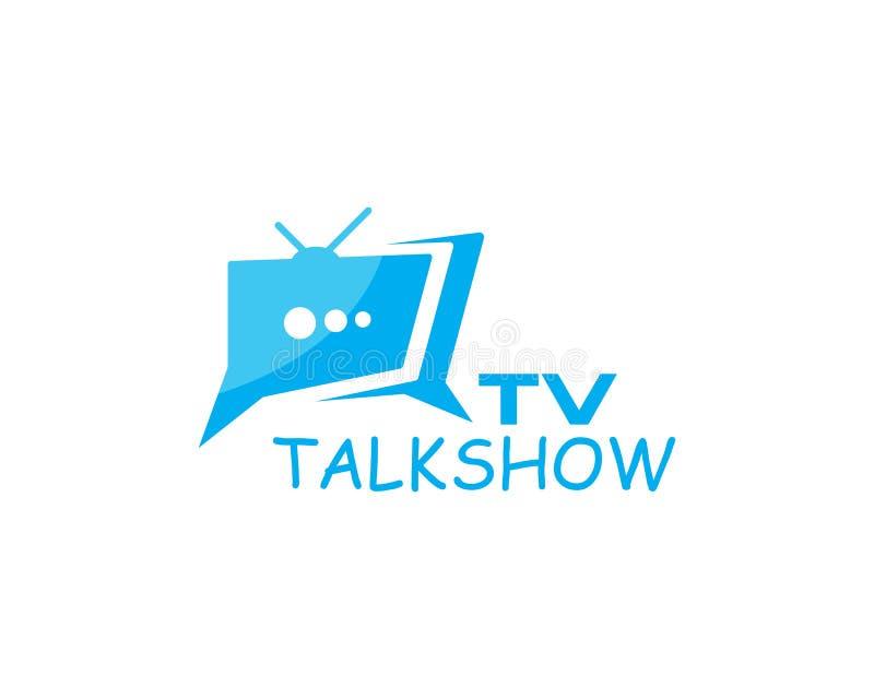 TV logo design. Flat icon royalty free illustration
