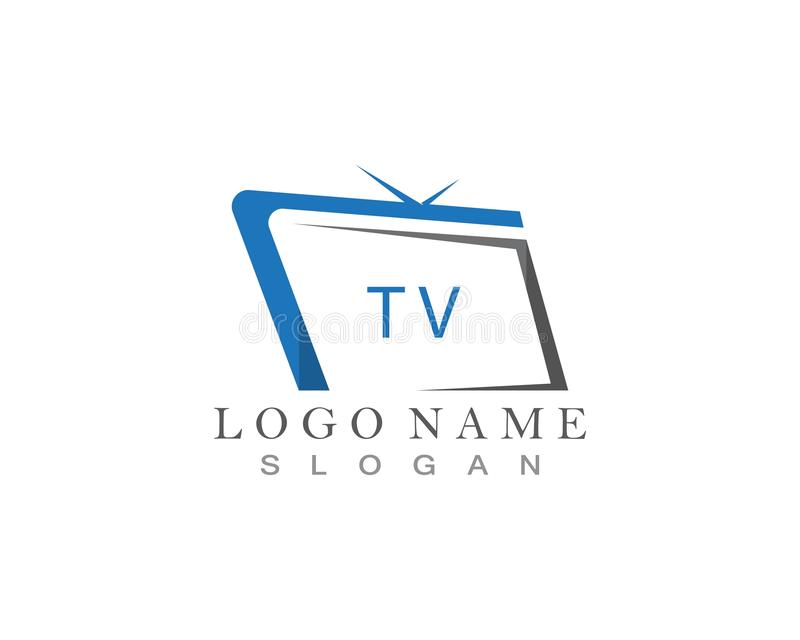 TV logo design flat icon. TV logo design flat icon, app, brand, broadcast, business, cinema, company, concept, creative, display, entertainment, film vector illustration