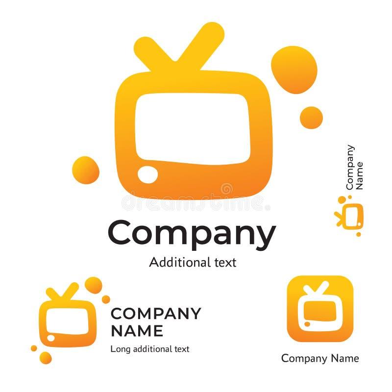 TV Logo Modern Identity para Television Brand y plantilla determinada del concepto del símbolo de App Icon Company ilustración del vector