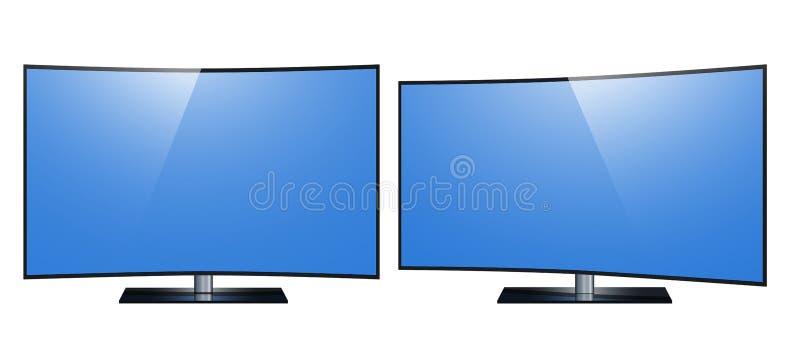 TV - mądrze TV 4k Ultra HD ekran, dowodzony tv odizolowywał białego tło ilustracji