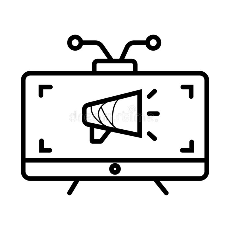 TV marketing icon vector illustration