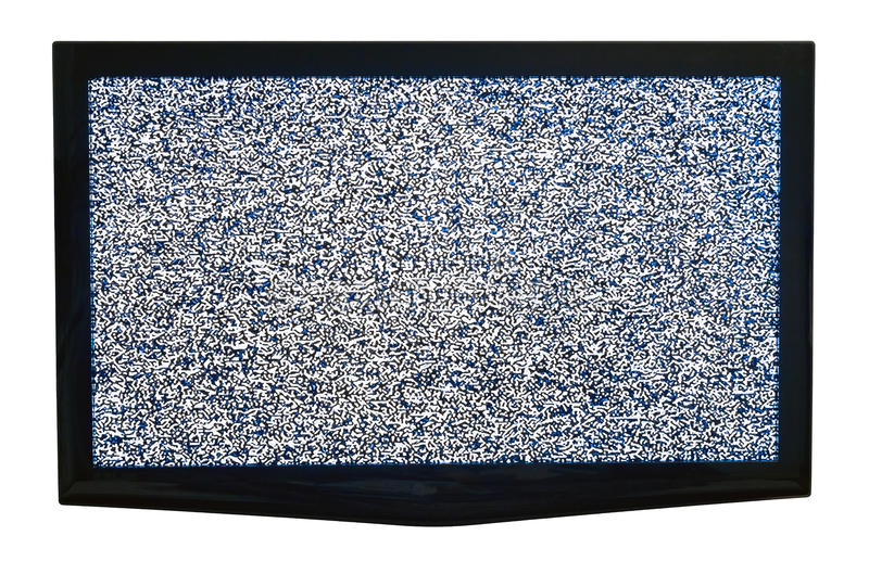 TV med kabel ut arkivbilder