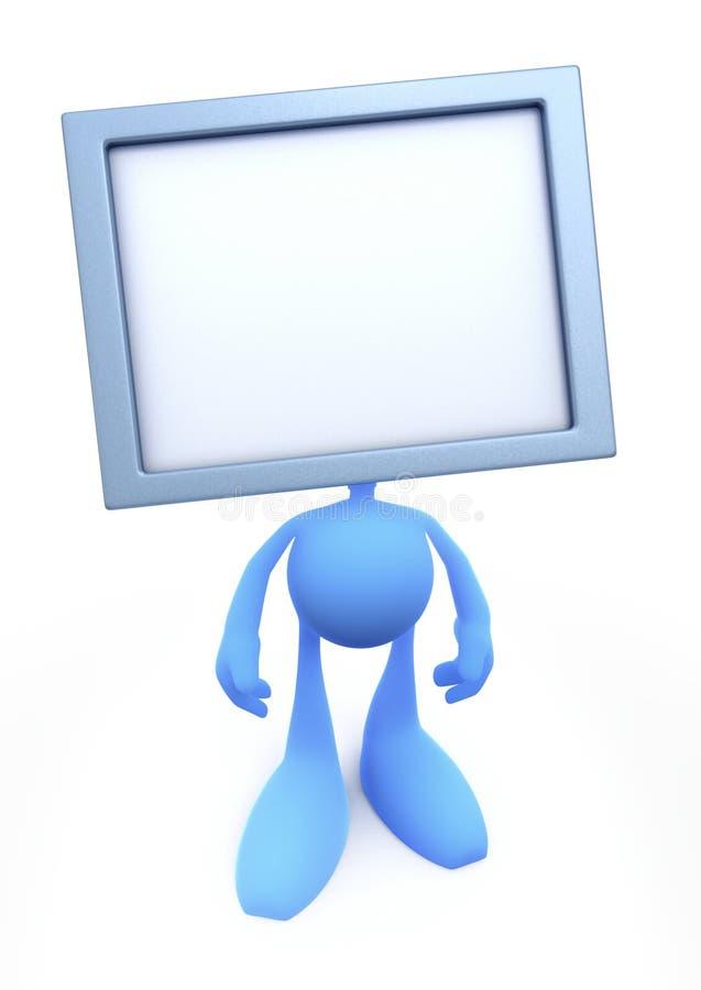 TV-mens (TV-Hoofd) Stock Foto's