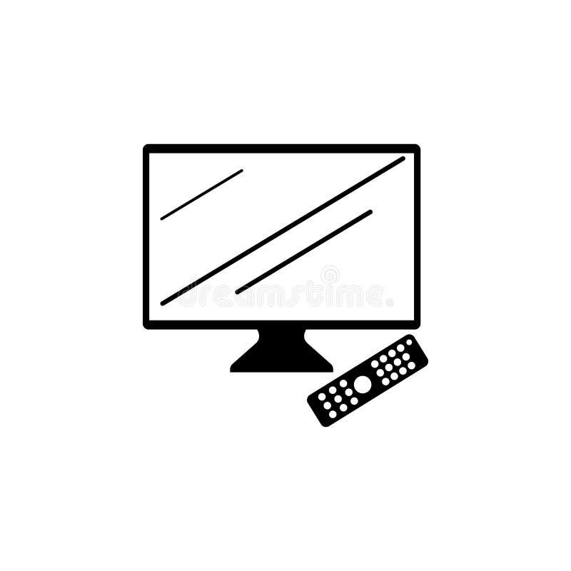 TV met afstandsbedieningpictogram Element van eenvoudig pictogram voor websites, Webontwerp, mobiele app, informatiegrafiek De te royalty-vrije illustratie
