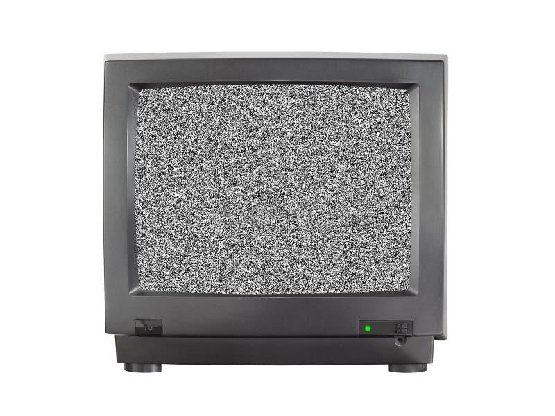 TV met het lege scherm stock foto