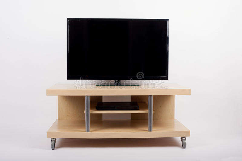 Download TV  On Mobile Stand Trolley Side Table Stock Photo - Image: 78846378