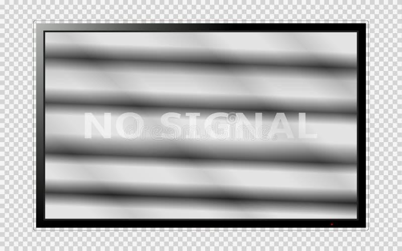 TV moderne avec des bruits sur l'écran d'isolement sur le fond transparent illustration de vecteur