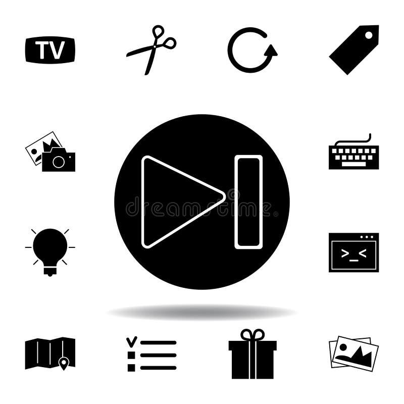 TV, monitor ikona Znaki i symbole mog? u?ywa? dla sieci, logo, mobilny app, UI, UX royalty ilustracja