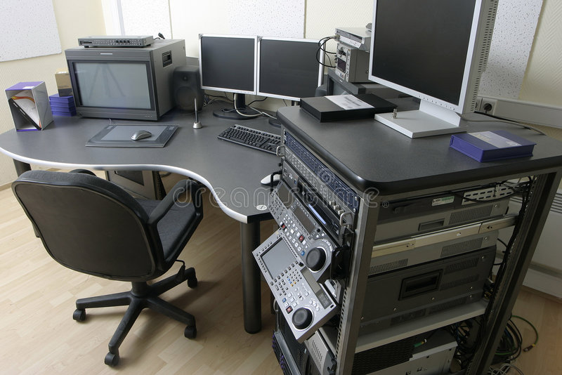 Tv montage unit stock photography