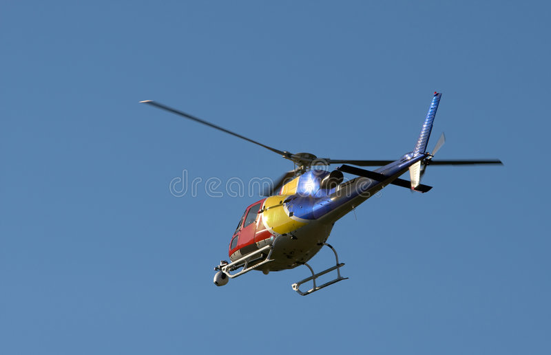 TV News Helicopter Royalty Free Stock Images