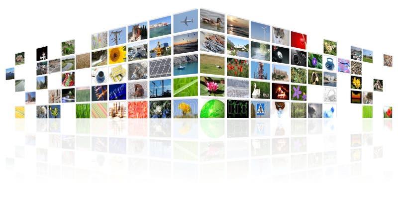 Tv news media internet. Digital background vector illustration