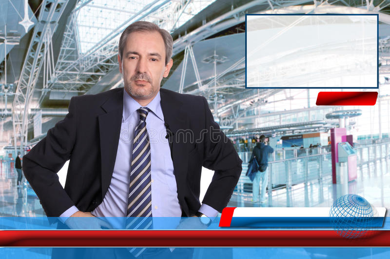 TV News reporter royalty free stock photography