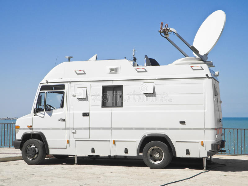 Download Tv News Truck. Royalty Free Stock Image - Image: 13480706
